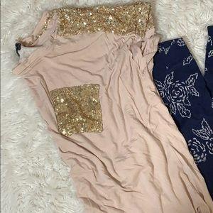Sequin tunic